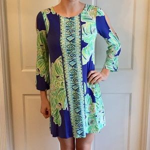 LILLY PULITZER COLD SHOULDER 3/4 LENGTH SLEEVE